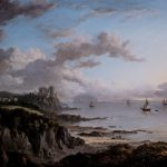 A painting of Culzean Castle and Bay