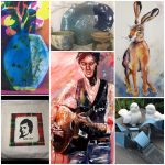 Collage of Visual artists and crafters who will be appearing at Girvan Festival 2019