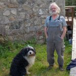 Dave Goulder in his dry stone walling working clothes